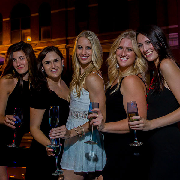 A wild night on the town with her best girlfriends during her NashVegas Nashville Bachelorette Party Package